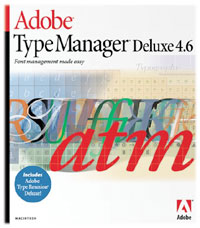 Packshot Adobe Type Manager DSeluxe 4.6.