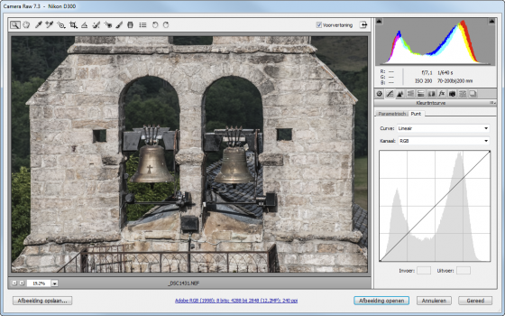 Histogram Photoshop Raw